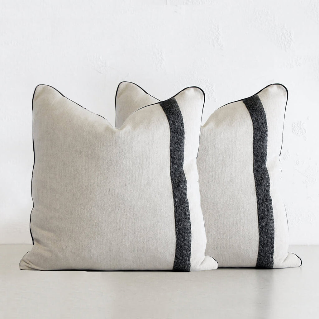 KADIR LINEN CUSHION | NATURAL LINEN + TURKISH COTTON BUNDLE of 2 CUSHIONS