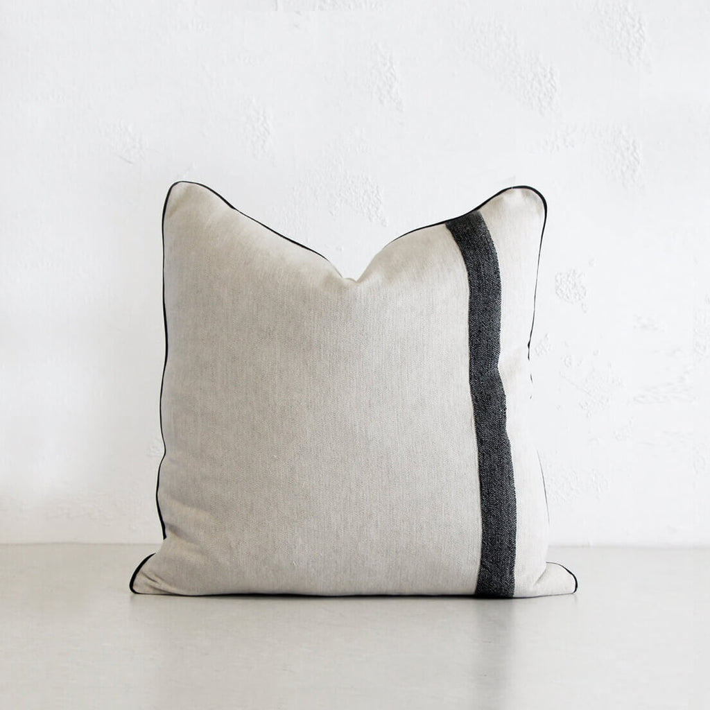KADIR LINEN CUSHION | NATURAL LINEN + TURKISH COTTON