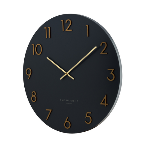 PRE ORDER | ONE SIX EIGHT LONDON  |  KATELYN METAL WALL CLOCK  |  CHARCOAL 40CM