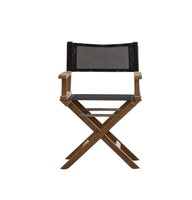 Rodda Directors Chair  |  Black with teak frame