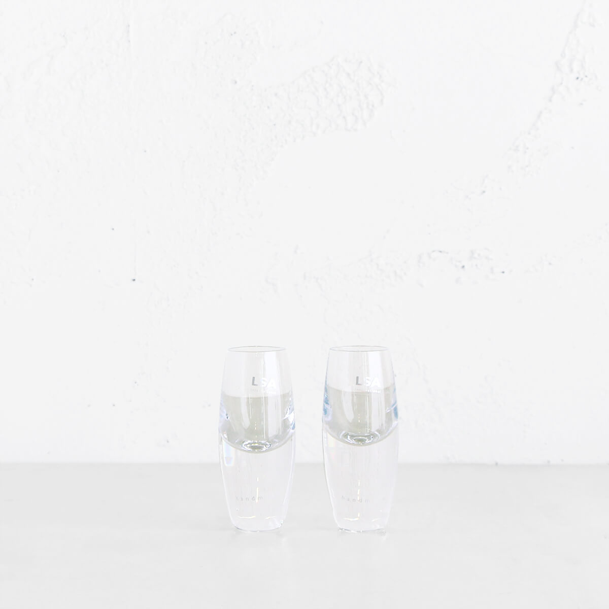 LSA BULLET VODKA GLASS  |  SET OF 2 BULLET VODKA + SHOT GLASSES