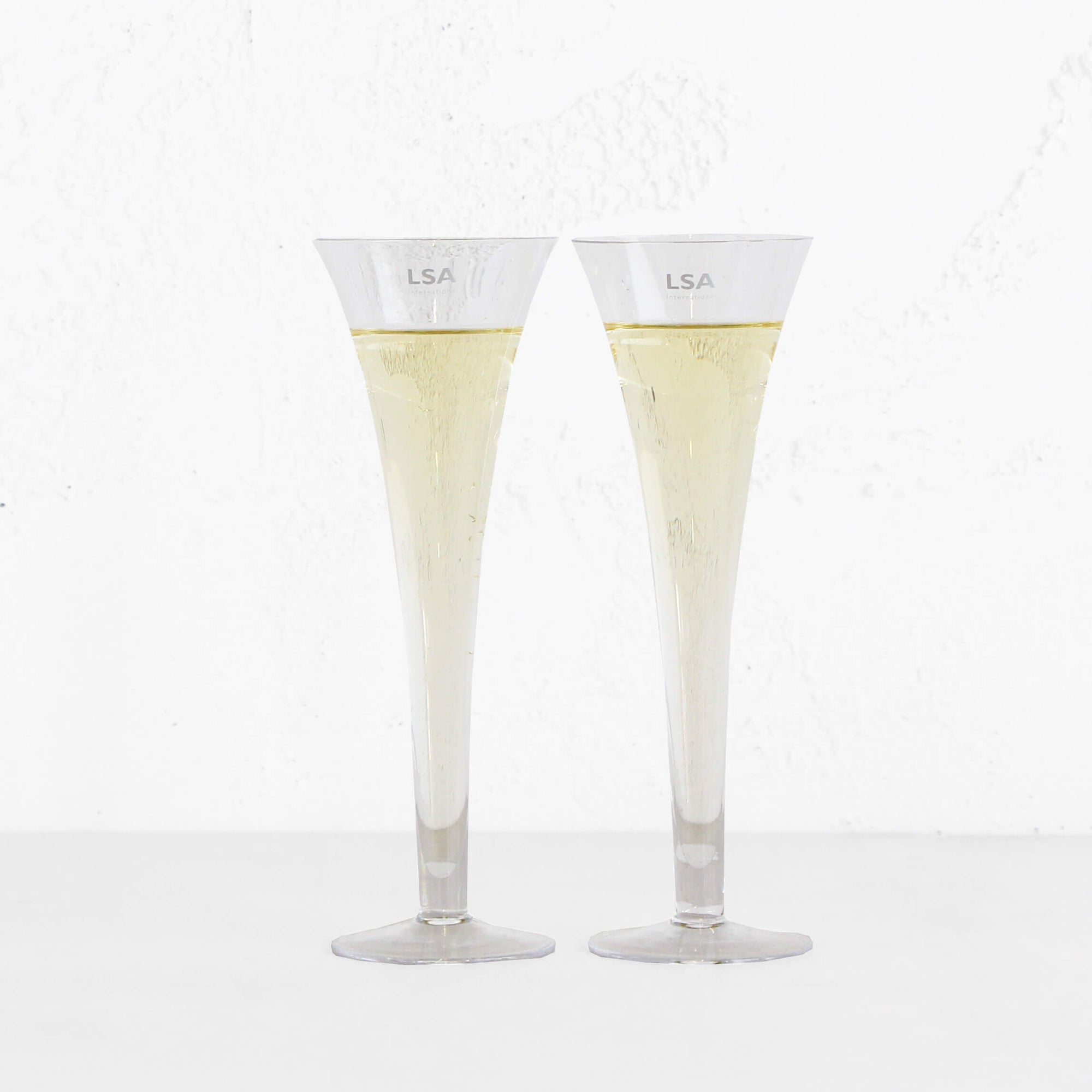 LSA BAR HOLLOW STEM CHAMPAGNE FLUTES  |  BOXED SET OF 2 GLASSES