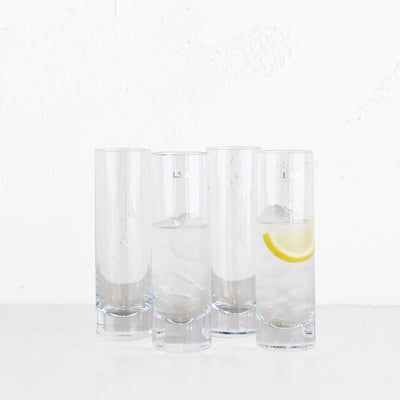 LSA LONG DRINK GLASS  |  SET OF 4 LONG DRINKING GLASSES