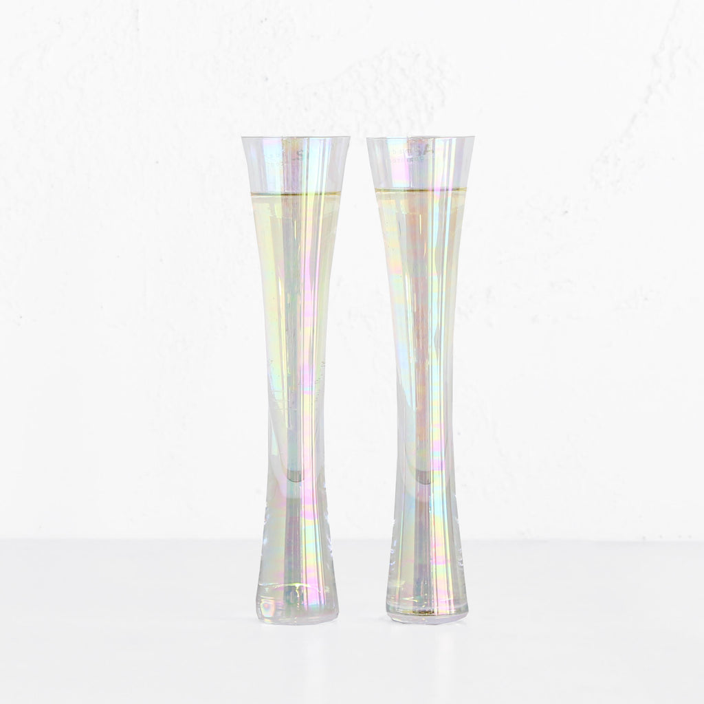 LSA MOYA CHAMPAGNE FLUTES  |  MOTHER OF PEARL  |  BOX SET OF 2 GLASSES