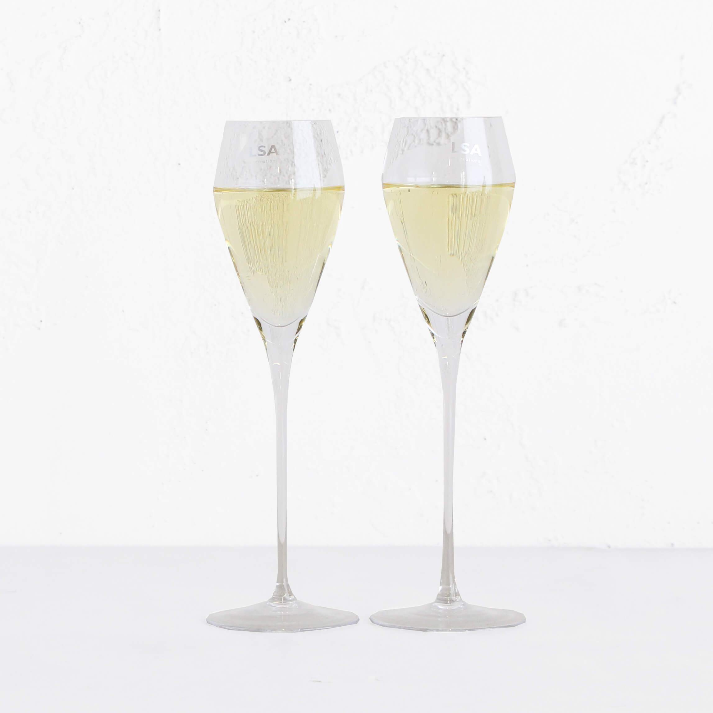 LSA PROSECCO OR CHAMPAGNE FLUTES  |  BOX SET OF 2 GLASSES