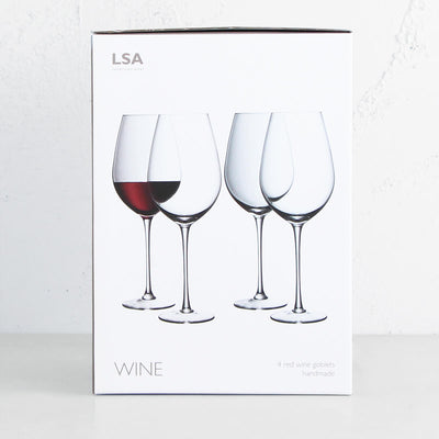 LSA RED WINE GOBLETS  |  SET OF 4 WINE GOBLETS