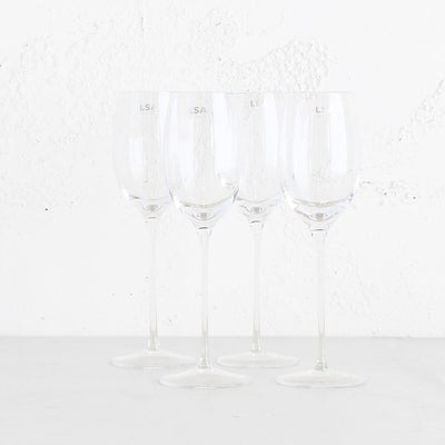 LSA WHITE WINE GLASSES  |  SET OF 4 WHITE WINE GLASSES