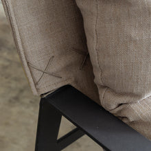 LAURENT ARM CHAIR  |  COCONUT HUSK  |  FABRIC OCCASIONAL LOUNGE CHAIR