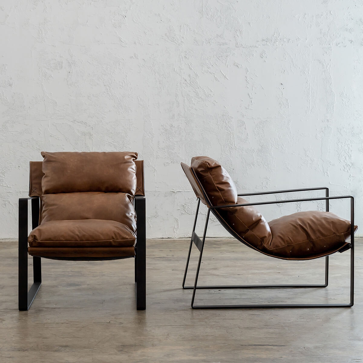 LAURENT LEATHER ARM CHAIR  |  COGNAC LEATHER  | VINTAGE LEATHER OCCASIONAL CHAIR PACKAGE DEAL