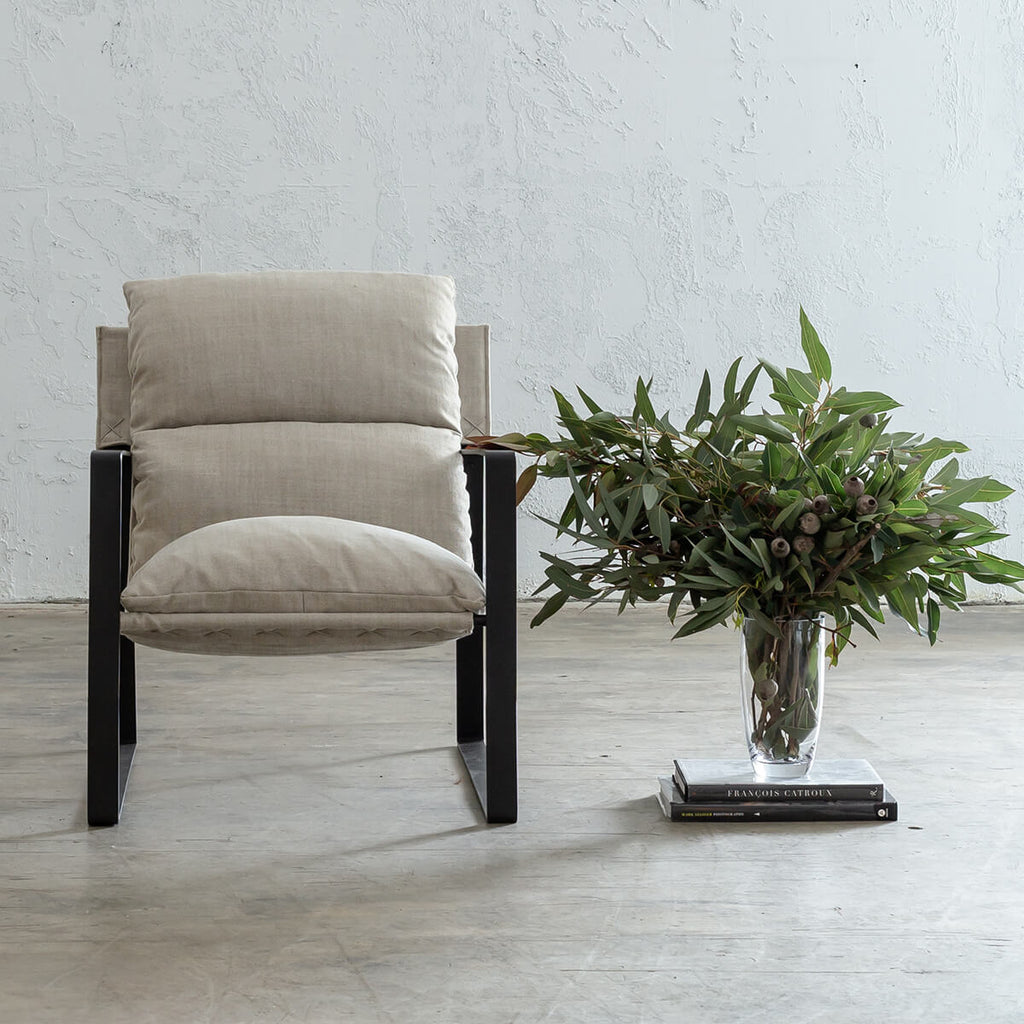 LAURENT ARM CHAIR  |  SHADED BIRCH  |  FABRIC OCCASIONAL LOUNGE CHAIR
