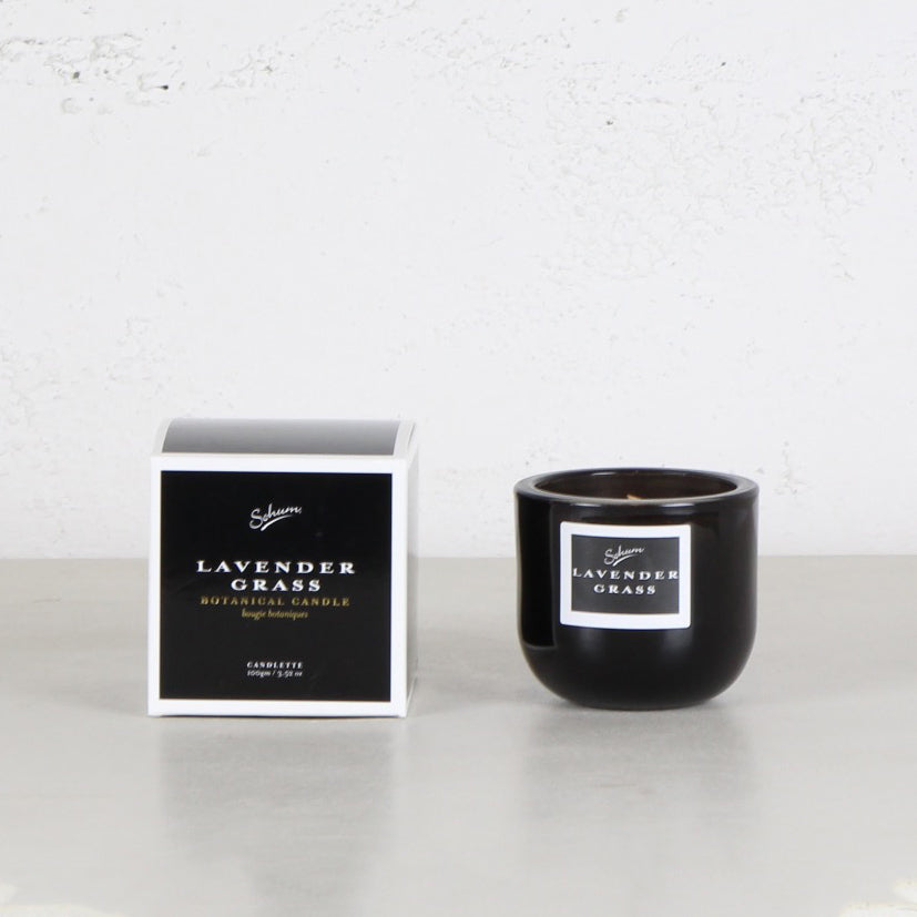 SOHUM MID CANDLETTE  |  GLASS CANDLE  |  LAVENDER GRASS
