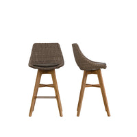 LECCO BAR STOOL  |  GREY WICKER