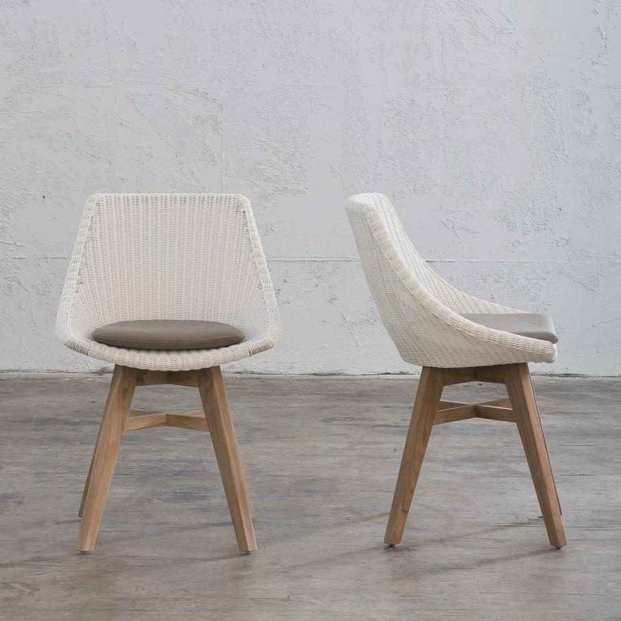 Remarkable Lecco Hampton Inspired Rattan Woven Dining Chair White Wicker Ncnpc Chair Design For Home Ncnpcorg