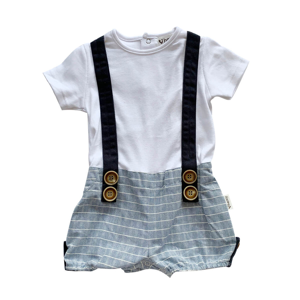 Love Henry Baby Boys Digby with Blue and white stripe