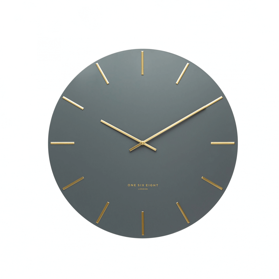 ONE SIX EIGHT LONDON  |  LUCA WALL CLOCK  |  CHARCOAL & GOLD  |  40CM