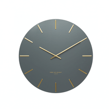 LUCA WALL CLOCK  |  CHARCOAL & GOLD  |  40CM