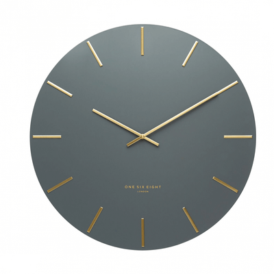 LUCA WALL CLOCK  |  CHARCOAL & GOLD  |  60CM