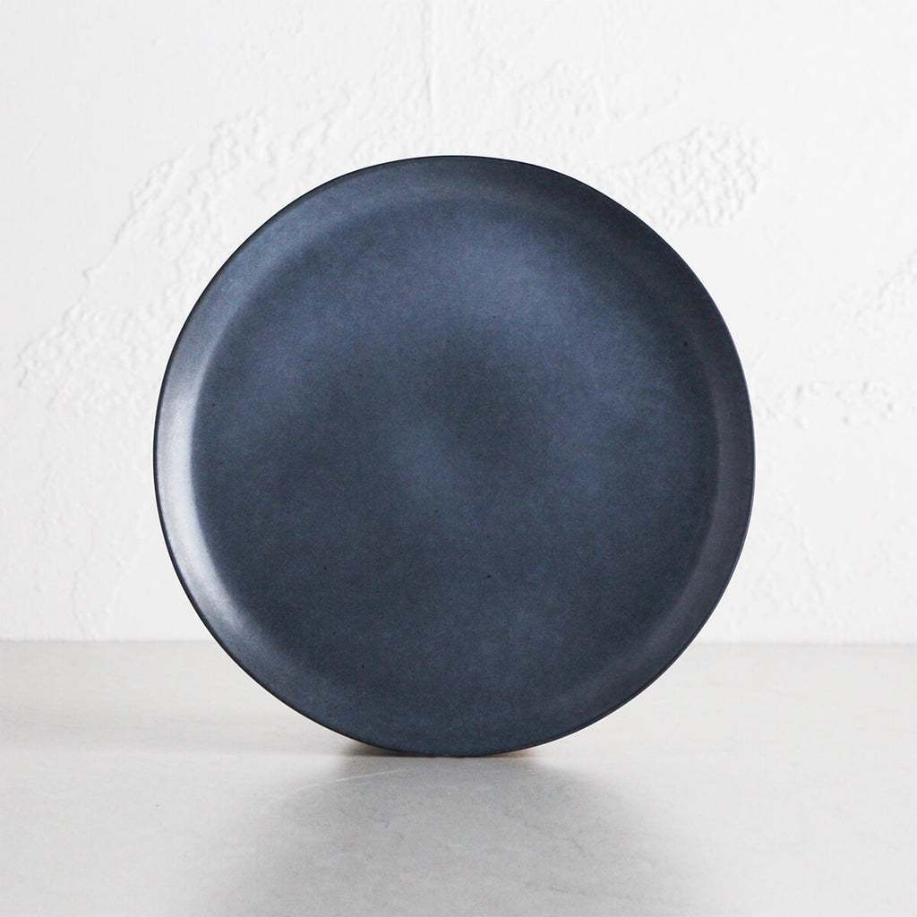 MALTA CERAMIC DINNER PLATE 27CM | DENIM BLUE CERAMIC STONEWARE