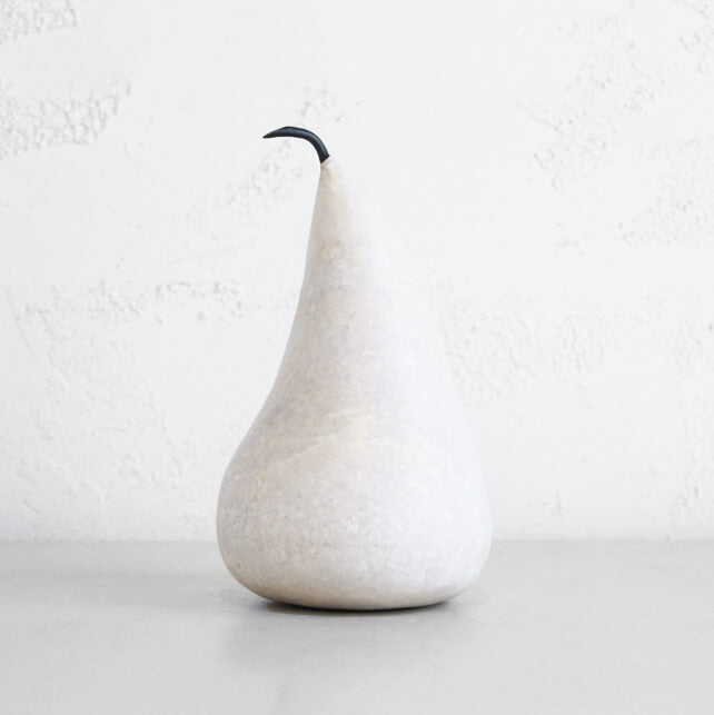 MARBLE PEAR  |  WHITE  |  EXTRA LARGE