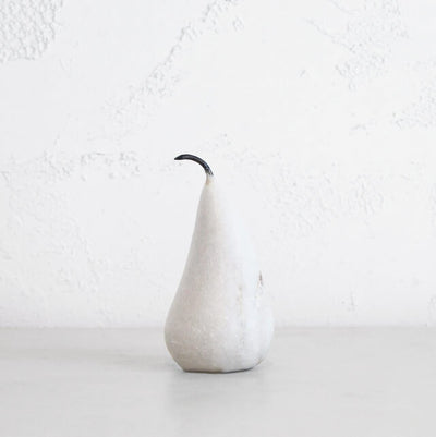 MARBLE PEAR  |  WHITE  |  LARGE