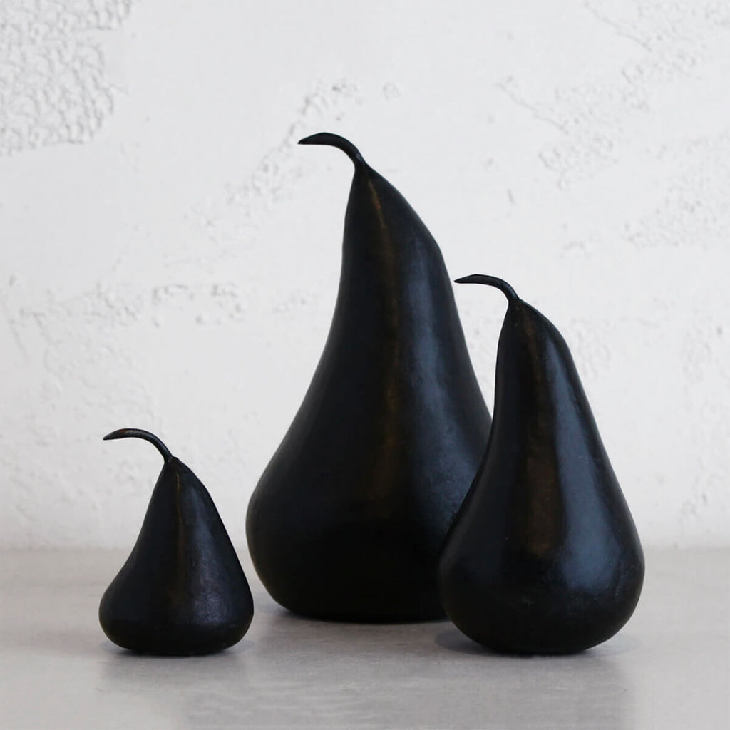 MARBLE PEAR  |  BLACK  |  SET OF 3