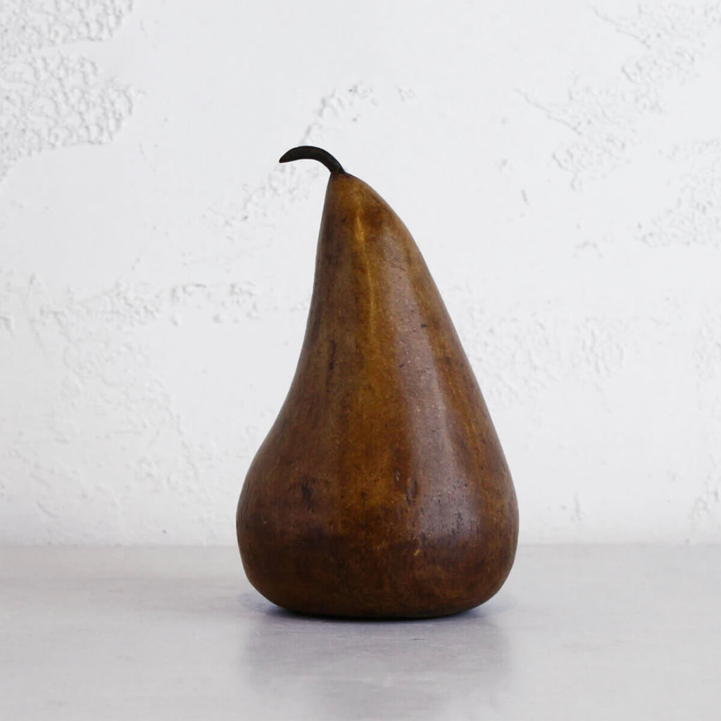 COPPER MARBLE PEARS  |  CLASSIC DECORATION ITEMS