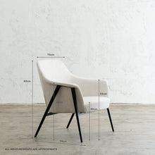 MARCUS ARM CHAIR  |  CASPER WHITE WITH MEASUREMENTS