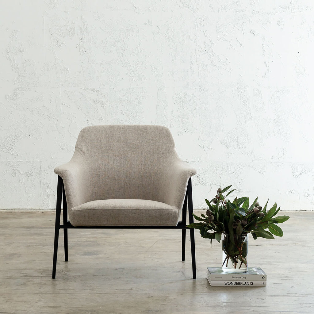 MARCUS ARM CHAIR  |  CASPER WHITE  |  MODERN OCCASIONAL CHAIR  | LOUNGE CHAIR