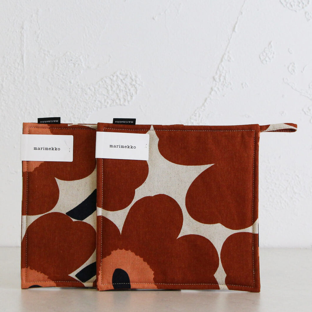 MARIMEKKO | PIENI UNIKKO POT HOLDER BUNDLE | CHESTNUT BUNDLE