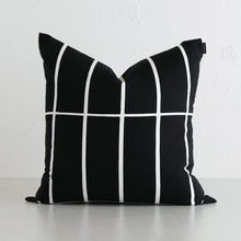 MARIMEKKO | TIILISKIVI CUSHION | BLACK + WHITE STRIPE