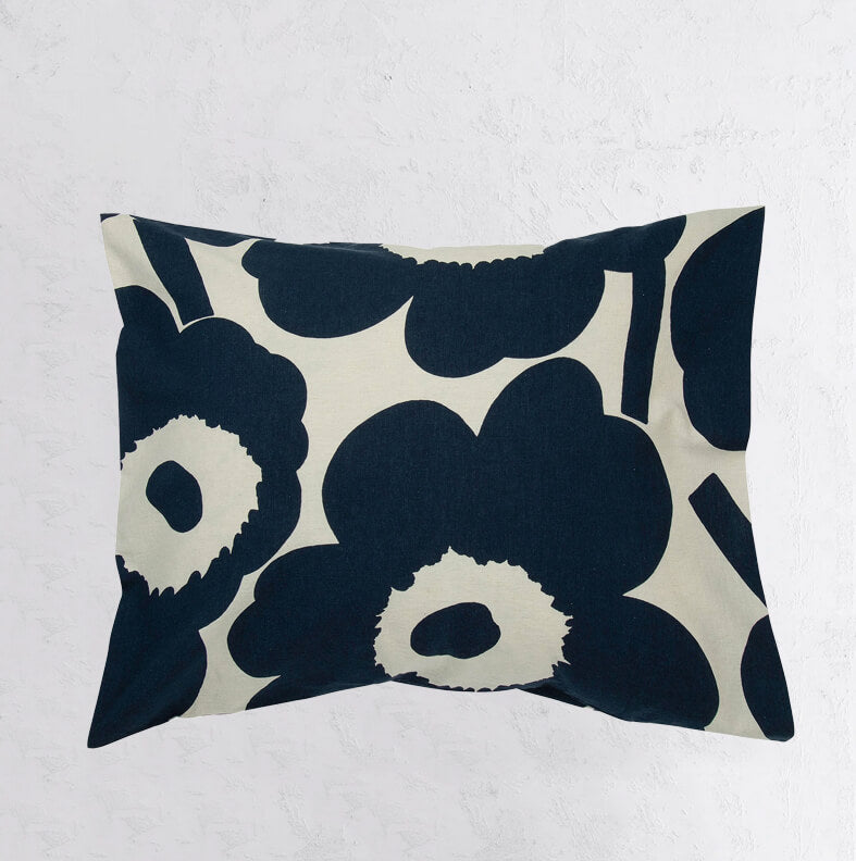 MARIMEKKO | UNIKKO PILLOW CASE | NAVY BLUE + BEIGE