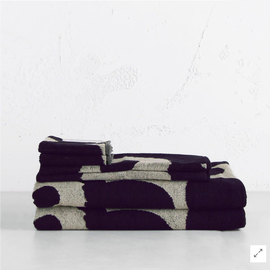 MARIMEKKO  |  UNIKKO BATH TOWEL BUNDLE DOUBLE  |  DARK BLUE