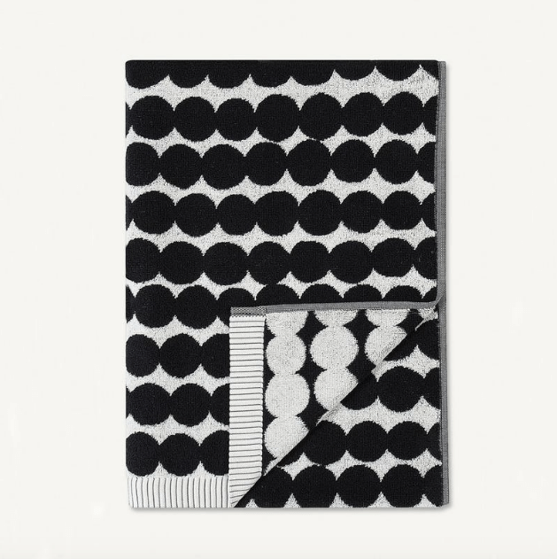 MARIMEKKO RASYMATTO BATH TOWELS  | BLACK SPOT  |  MODERN BATHROOM