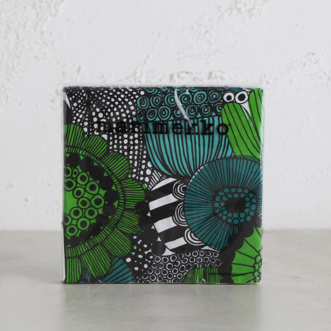 MARIMEKKO  |  SIIRTOLAPUUTARHA PAPER NAPKINS  |  GREEN + BLACK + WHITE  |  LUNCH SERVIETTES