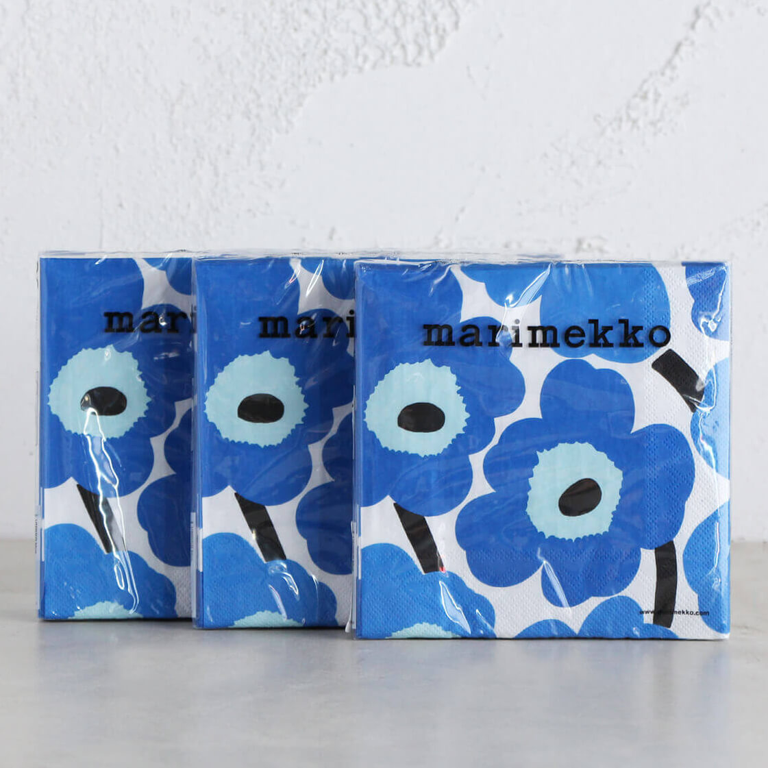 MARIMEKKO  |  UNIKKO PAPER NAPKIN BUNDLE  | DARK BLUE + LIGHT BLUE  |  PAPER SERVIETTES