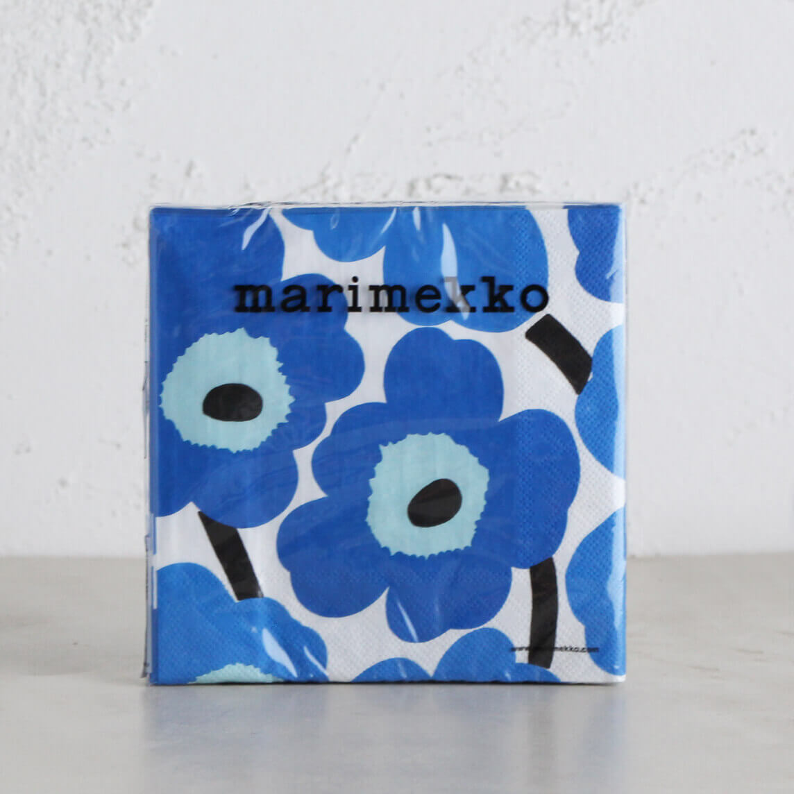 MARIMEKKO  |  UNIKKO PAPER NAPKIN  | DARK BLUE + LIGHT BLUE  |  PAPER SERVIETTES