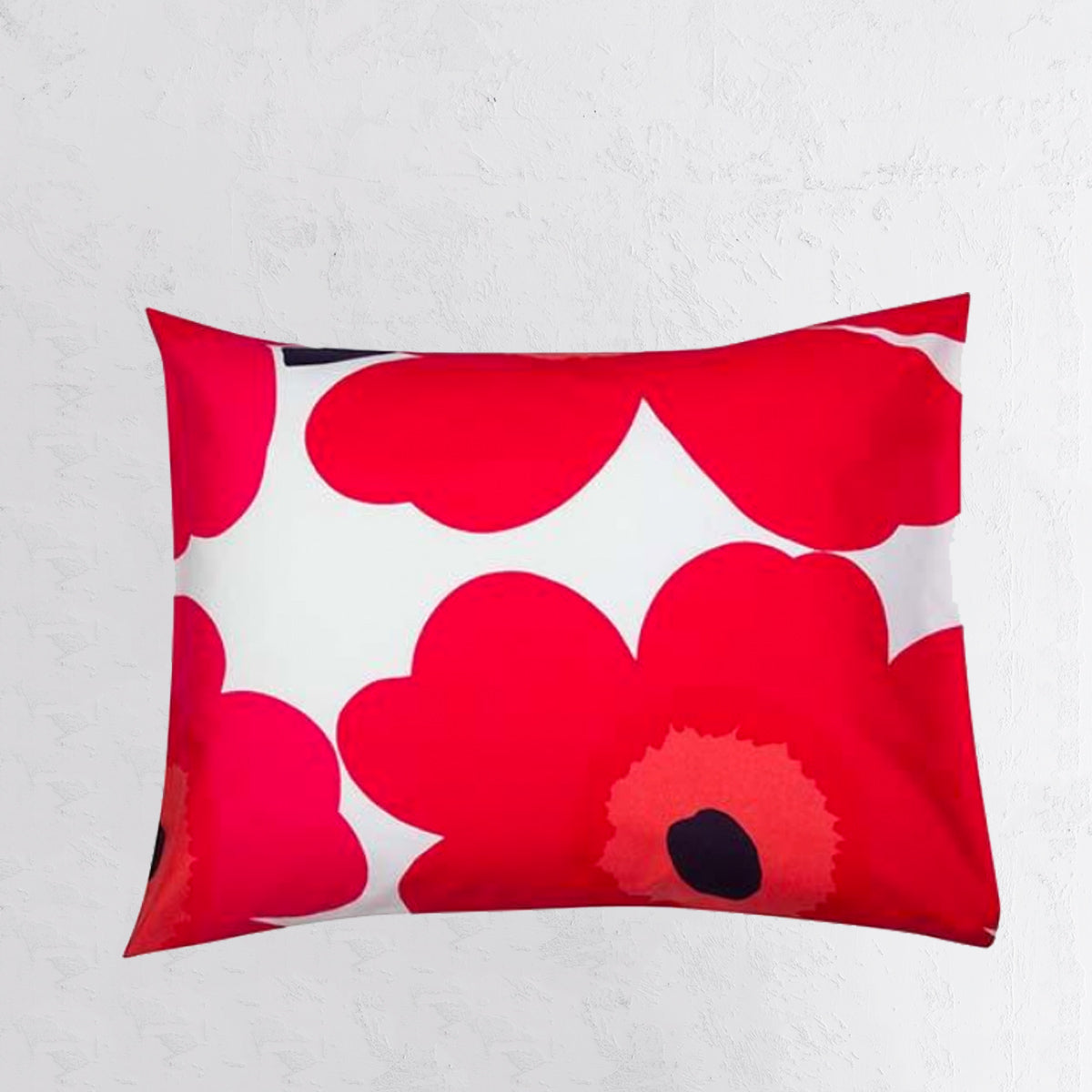 MARIMEKKO  |  UNIKKO PILLOW CASE  |  70 x 50 |  RED PINK POPPY FLOWER