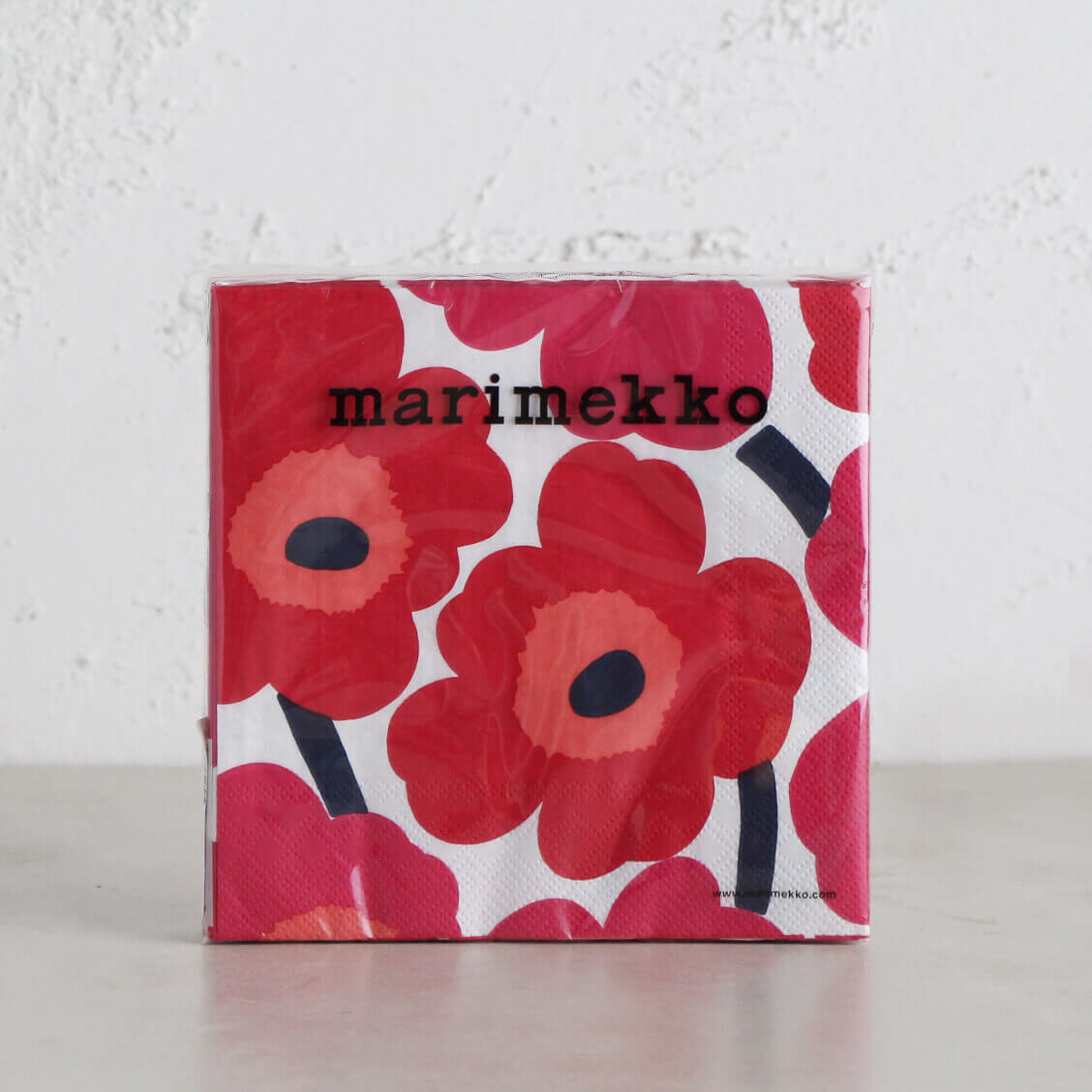 MARIMEKKO  |  UNIKKO NAPKIN  | RED + ORANGE + PINK  |  PAPER SERVIETTES