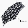 MARIMEKKO  |  MARILOGO MINI MANUAL UMBRELLA  |  WHITE + BLACK