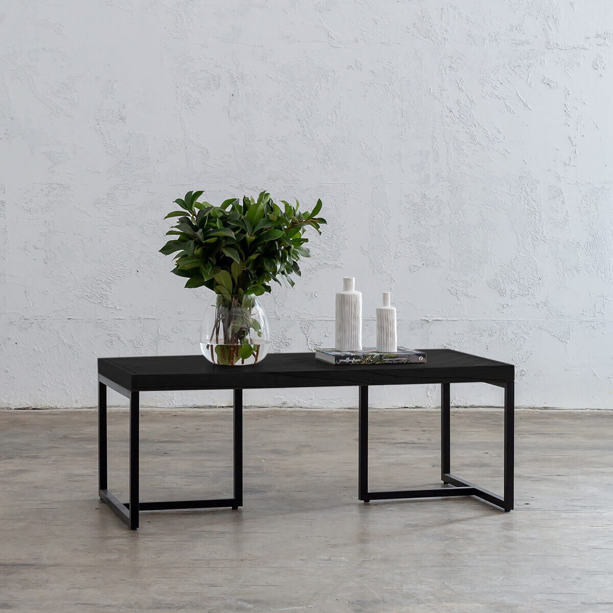 MAXIM PARQUETRY HERRINGBONE COFFEE TABLE | RECTANGLE | BLACK