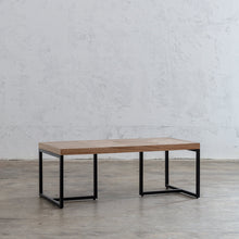 MAXIM PARQUET HERRINGBONE TIMBER RECTANGLE COFFEE TABLE  |  MID CENTURY TIMBER FURNITURE COLLECTION