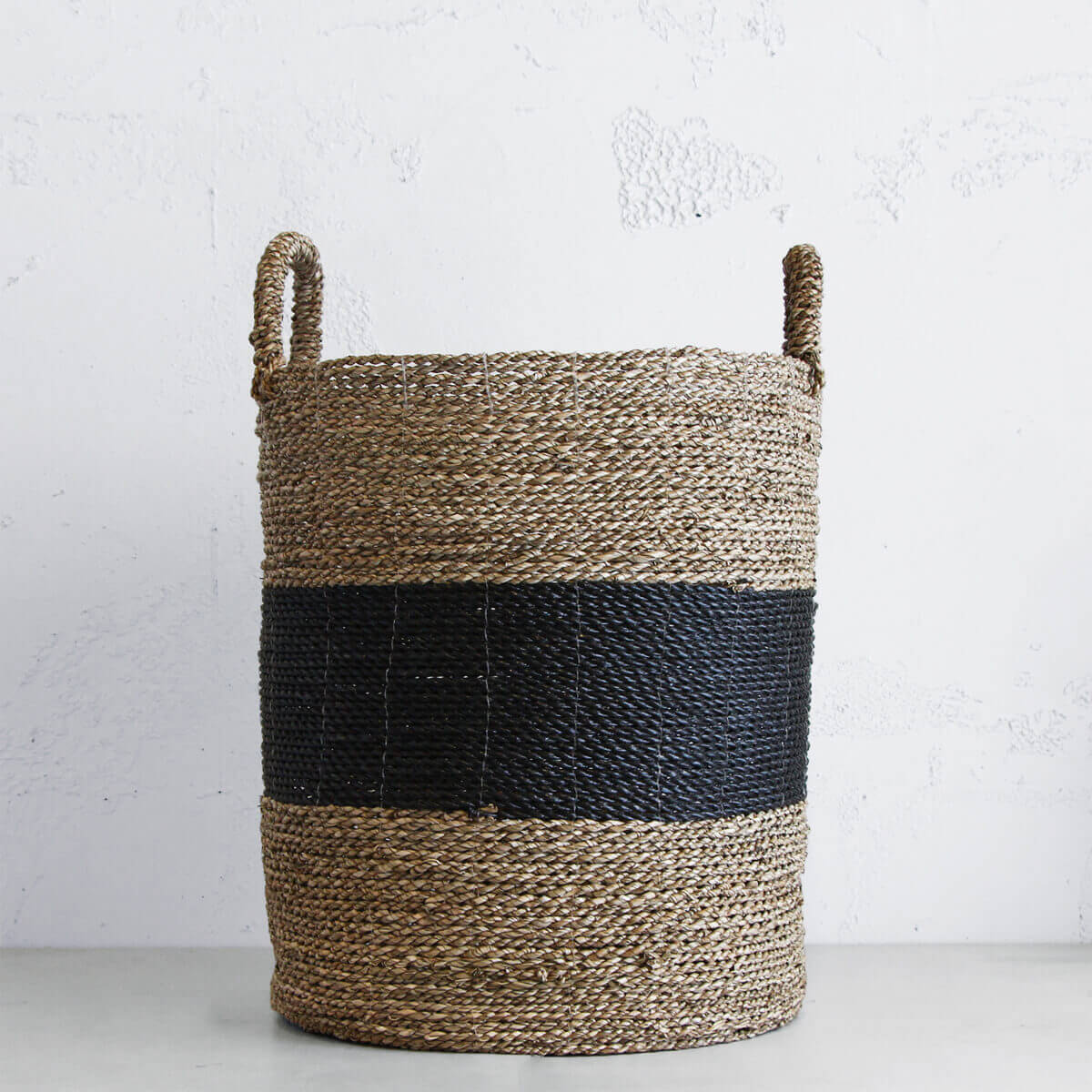 NATURAL SEAGRASS BASKET  |  TOY BASKET  |  STORAGE BASKET  |  BOHO POT PLANT STAND
