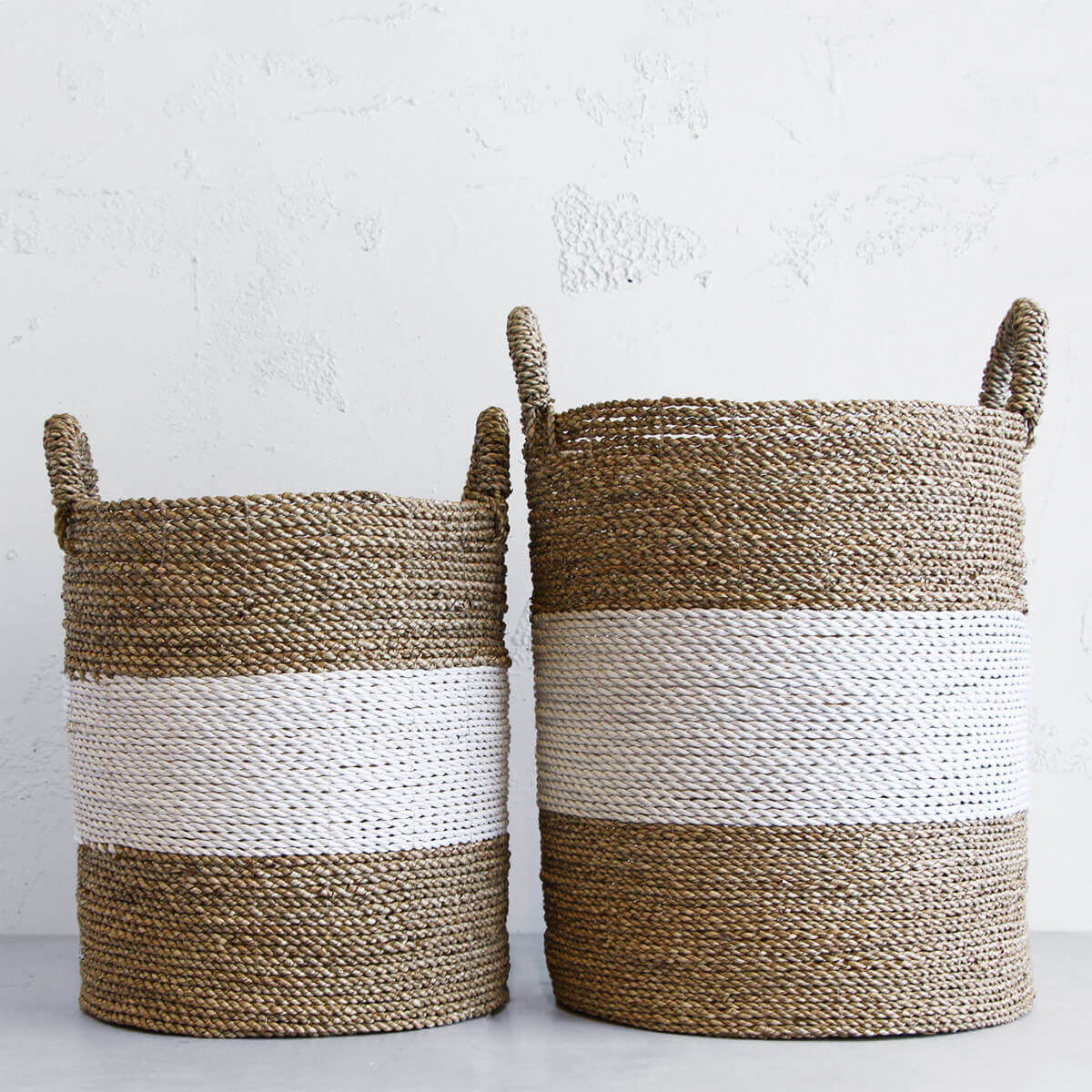 SEAGRASS STORAGE BASKETS  |  POT PLANTS  |  GREEN INTERIOR