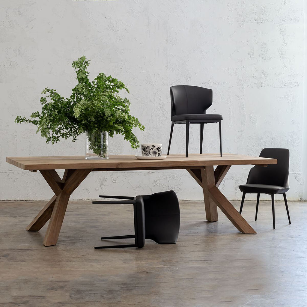 NAPLES RECLAIMED TEAK DINING TABLE  |  INDOOR + OUTDOOR  |  2.6M