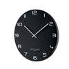 ONE SIX EIGHT LONDON NERO WALL CLOCK 60CM BLACK METAL