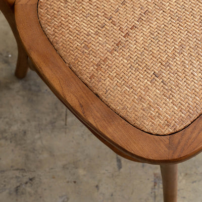 NEWFIELD BENTWOOD BAR CHAIR  |  DARK ELM RATTAN  |  CAFE BAR STOOL