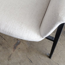 NEIMAN ARM CHAIR  |  CASPER WHITE  |  MODERN OCCASIONAL CHAIR  | LOUNGE CHAIR FABRIC CLOSEUP