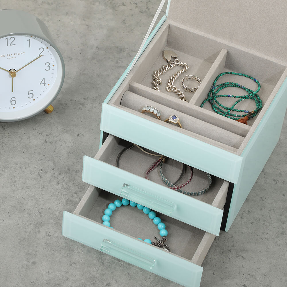 ONE SIX EIGHT LONDON  |  GABRIELLA GLASS JEWELLERY BOX  |  MINT BUNDLE