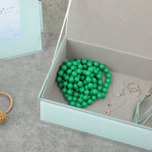 ONE SIX EIGHT LONDON  |  SARA GLASS JEWELLERY BOX  |  MINT MEDIUM