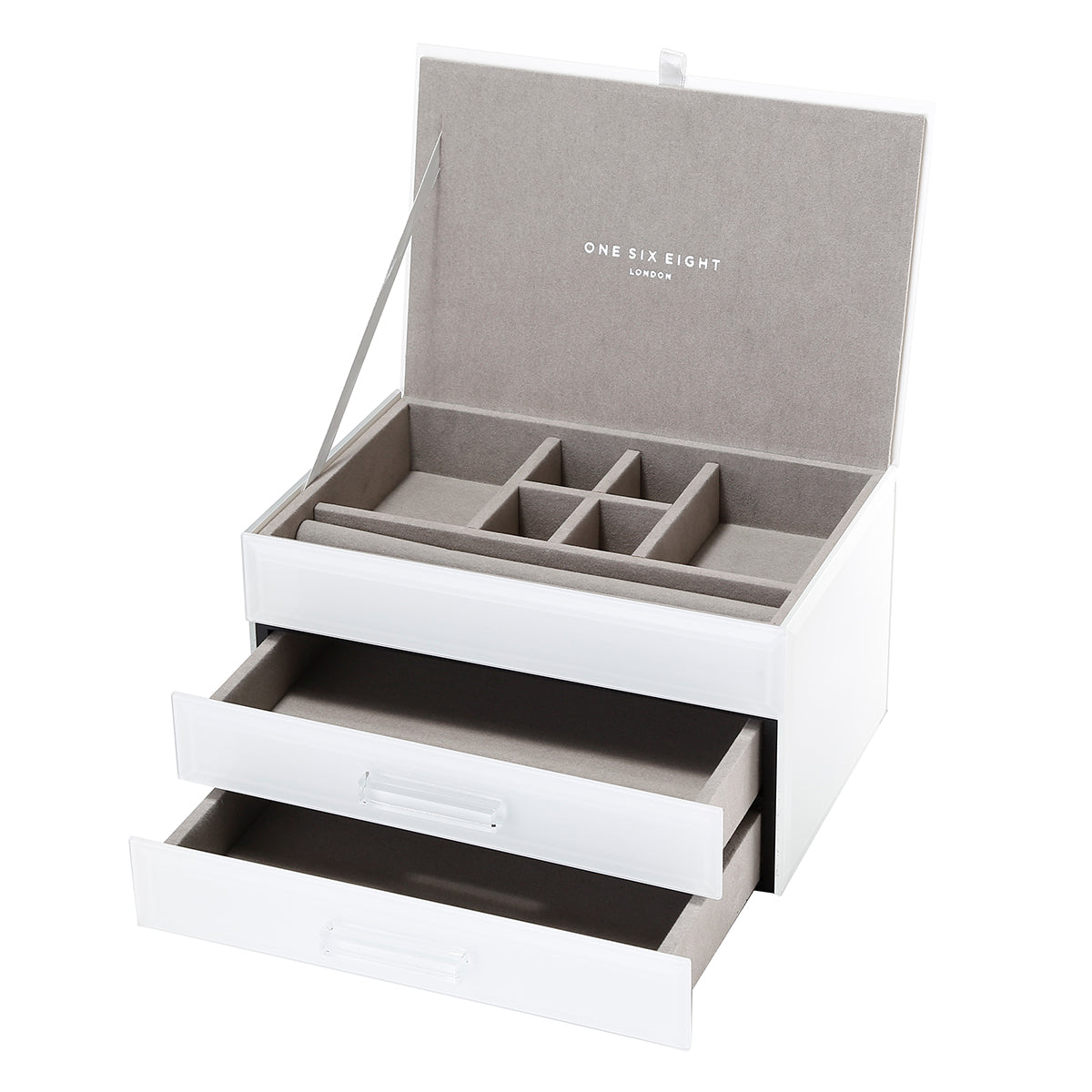ONE SIX EIGHT LONDON  |  GABRIELLA GLASS JEWELLERY BOX  |  NUDE MEDIUM